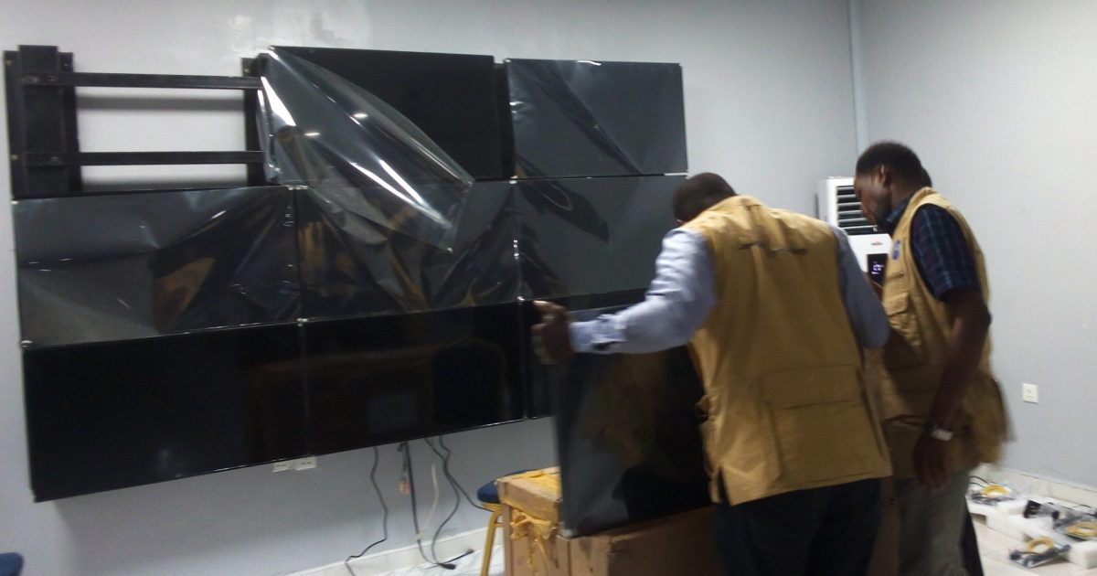 3x3 video wall in lagos